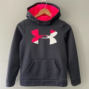 Under Armor Girls' Storm Tech Fleece Lined Hoodie with Middle Logo Large